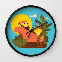 Tropical Animals Wall Clock