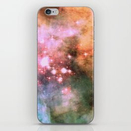 Colorful Pink Sparkle Carina Nebula Abstract iPhone Skin