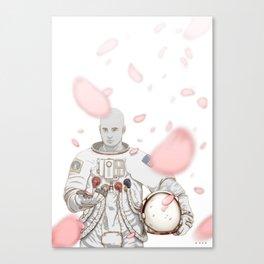 Sakura Spaceman Canvas Print