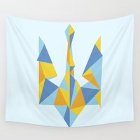 ukraine Wall Tapestries featuring Ukraine Geometry by Sitchko Igor