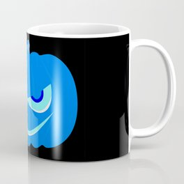 Evil Blue Halloween Pumpkin Coffee Mug