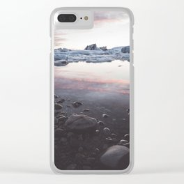 Jokulsarlon Lagoon - Sunset - Landscape and Nature Photography Clear iPhone Case