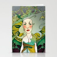 mucha Stationery Cards featuring mucha chas by lilumon