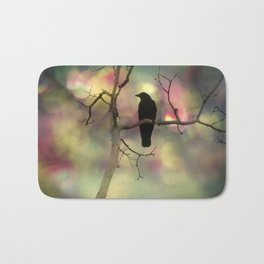 Crow Dreams In Colors Bath Mat