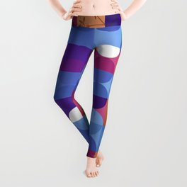 Game of circles with flowers Leggings