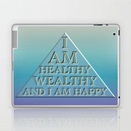 I AM Healthy, Wealthy and I AM Happy Laptop & iPad Skin