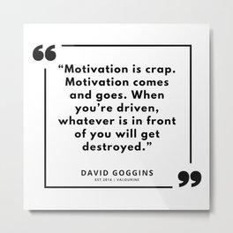 66  | David Goggins Quotes | 190901 Metal Print
