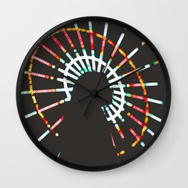 Silhouette Of A Woman By A Ferris Wheel Wall Clock