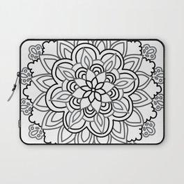 Baesic Handdrawn Black & White Mandala Laptop Sleeve