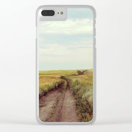 Rustic photo. Country road photography. Summer landscape. Nature poster Clear iPhone Case