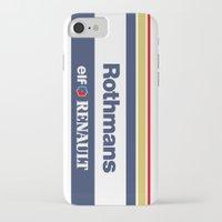 senna iPhone & iPod Cases featuring Williams F1 Rothmans Ayrton Senna by Krakenspirit