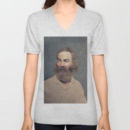 Walt Whitman, Literary Legend Unisex V-Neck