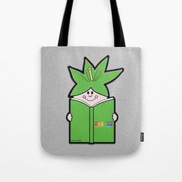 Reading Rainbow in Harmony - Green Tote Bag