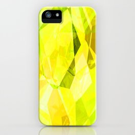 Pale Yellow Poinsettia 1 Abstract Polygons 1 iPhone Case