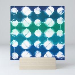 Shibori itajime colorful big dot Mini Art Print