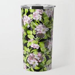 Apple Blossoms, Spring Flower, Springtime, Floral, Botanical, Pink Flowers Travel Mug