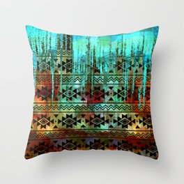 Southwest Icicles Throw Pillow
