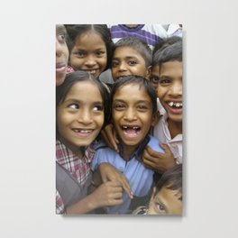 A project to improve the quality of life of people infected with or affected by HIVAIDS in Maharasht Metal Print