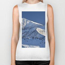 Snowy mountains. 3.478 meters Biker Tank