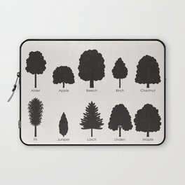 Infographic Guide for Tree Species by Shapes or Silhouette Laptop Sleeve