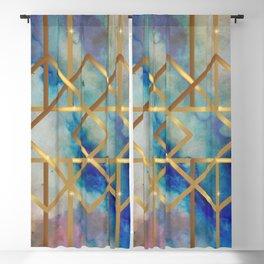 Elves Window - Pastel Marble Geometry Blackout Curtain