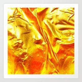 Golden Fabric Art Print