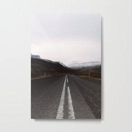 Road Mountain Photography Metal Print