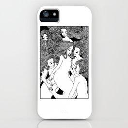 Mermaid Sisters iPhone Case