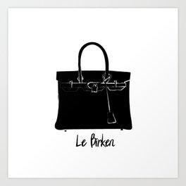 The Birkin Bag Art Print