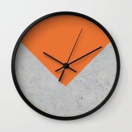 Orange & Grey Concrete Wall Clock