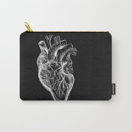 Two Sided Heart Carry-All Pouch