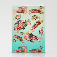 psychadelic Stationery Cards featuring cars  by mark ashkenazi