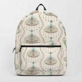 Beautiful medallions with blue appliqués . Backpack