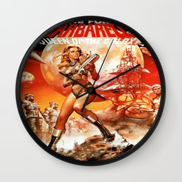 Queen Of The Galaxy Wall Clock