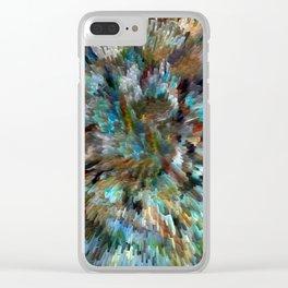 Desert Peacock Shag Clear iPhone Case