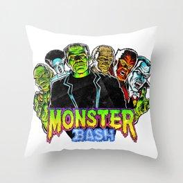 Monster Bash Throw Pillow