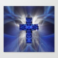 cross Canvas Prints featuring Cross by Mr D's Abstract Adventures