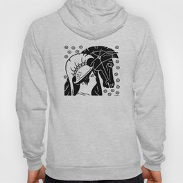 Female Warrior With Horse Hoody