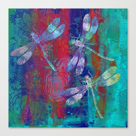 A Dragonflies QP Canvas Print