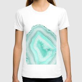 Soft Turquoise Agate Dream #1 #gem #decor #art #society6 T-shirt