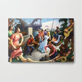 Classical Masterpiece 'The Sources of Country Music' by Thomas Hart Benton Metal Print