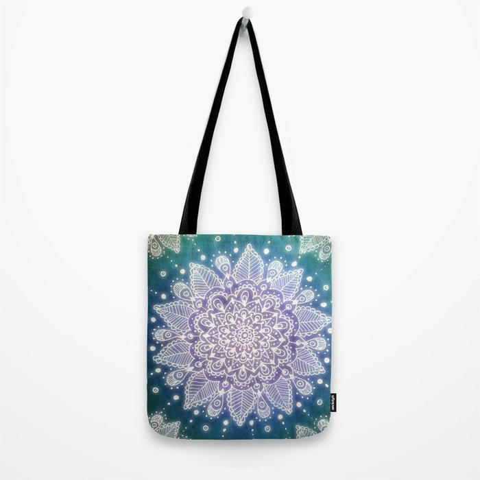 Peacock Mandala Tote Bag