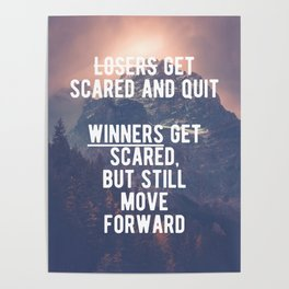 Motivational - Winners Always Move Forward! Poster