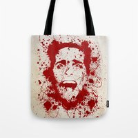 return Tote Bags featuring American Psycho by David
