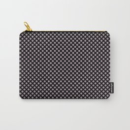 Black and Sea Fog Polka Dots Carry-All Pouch