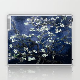Vincent Van Gogh Almond Blossoms Dark Blue Laptop & iPad Skin