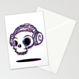 3D Skull Stationery Cards