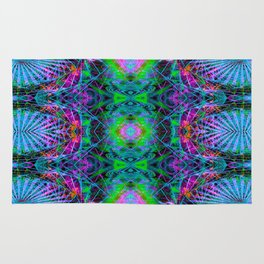 Techno Electric V (Ultraviolet) Rug