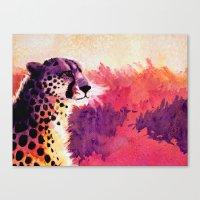 cheetah Canvas Prints featuring Cheetah by Fallen Apple Designs