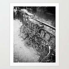 Abandoned Bicycle Art Print